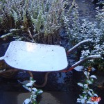 Frozen wheelbarrow